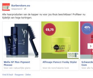 Voorbeeld multi product advertenties